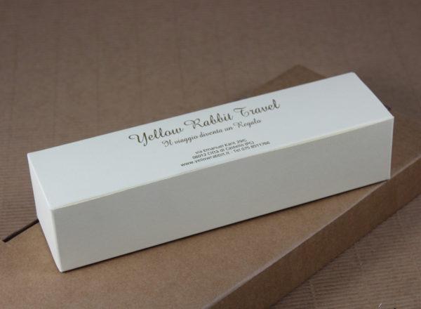 Foto delle scatole per confezioni dello Scatolificio Eugubino - modello Venus Pieghevole color Bianco Neve