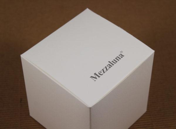 Foto delle scatole per confezioni dello Scatolificio Eugubino - modello Venus Pieghevole color Bianco