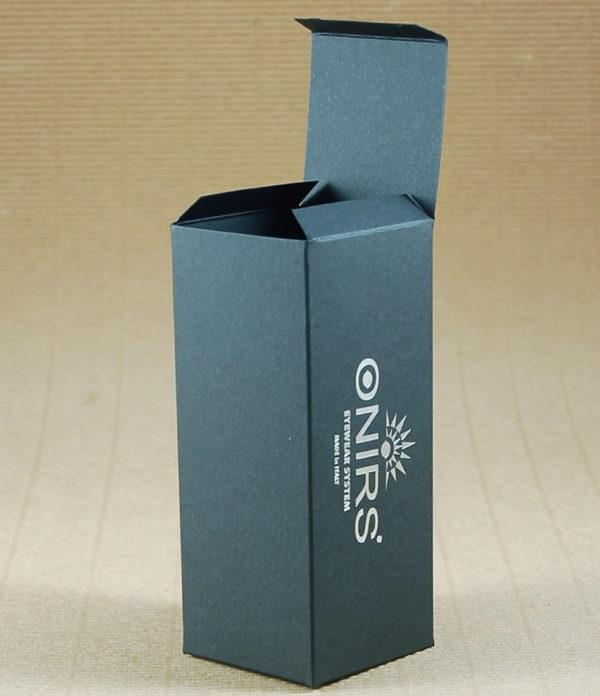 Foto delle scatole per confezioni dello Scatolificio Eugubino - modello Venus Pieghevole color Nero