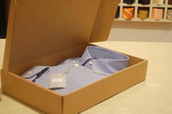 Foto delle scatole per confezioni dello Scatolificio Eugubino - modello Barchetta per camicie