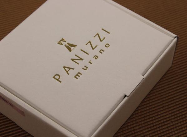 Foto delle scatole per confezioni dello Scatolificio Eugubino - modello Barchetta Avorio stampa oro