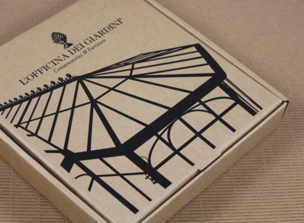 Foto delle scatole per confezioni dello Scatolificio Eugubino - modello Barchetta stampa serigrafica nero